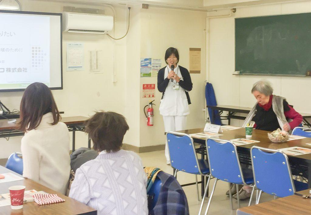 2017年1月 第15回大阪城カフェにハザマ薬局 森ノ宮店 管理薬剤師 大津 裕美 先生が講演しました